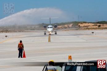 Aeromexico flight in Rocky Point 5