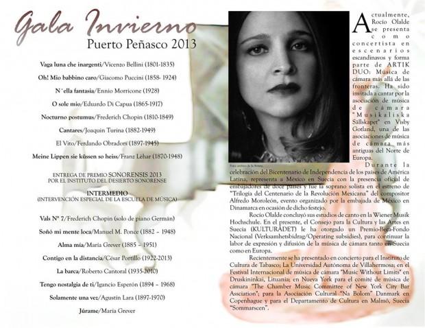 Gala-programa-interior-620x478 Rocío Olalde triunfa en la Gala Invierno Puerto Peñasco 2013
