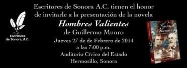 hombres-valientes-hmllo-630x232 Guillermo Munro Palacio publica su novela Hombres Valientes