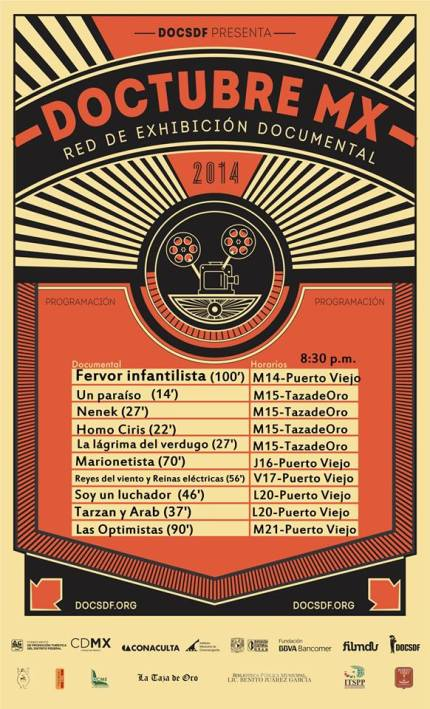 DOCTUBRE MX. Cartel de la programación. Puerto Peñasco.