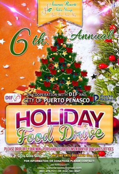 holiday-drive-sonoran 6th Annual Sonoran Resorts Holiday Food Drive