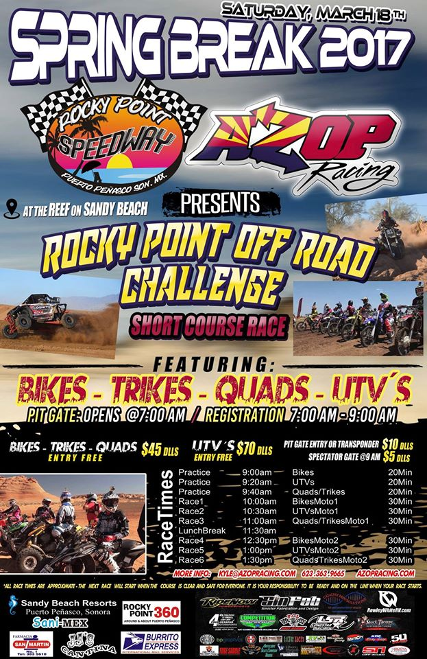 march18 Rocky Point Off Road Challenge  March 18th