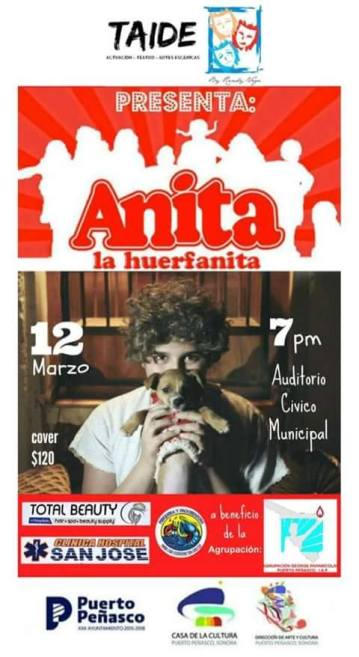 "annie-march12 ""Anita la Huerfanita"" to come to life on stage March 12th"