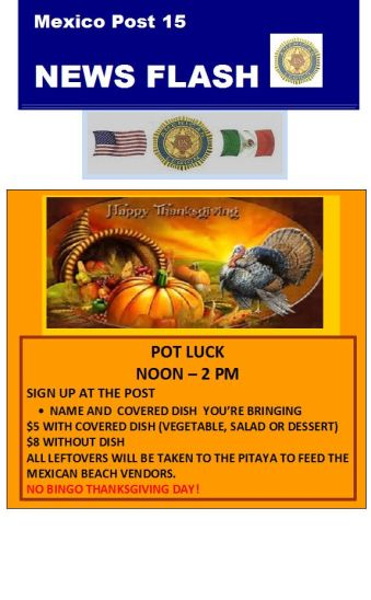 american-legion-thanksgiving-potluck 2017 Thanksgiving ideas!