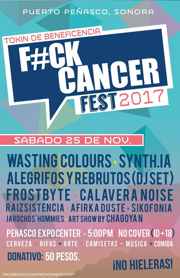 f-ck-cancer-fest-nov F#CK CANCER FEST presentará grupos de rock y DJs