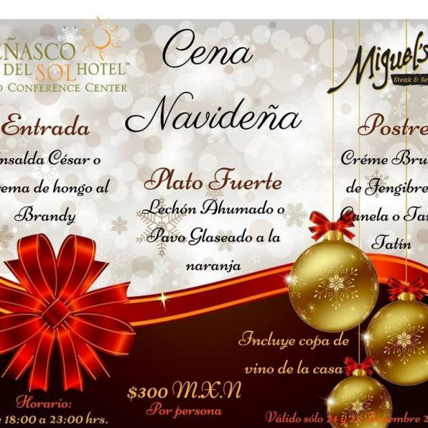 penasco-del-sol-christmas-dinner Where to go for Christmas & New Year's in Rocky Point 2017