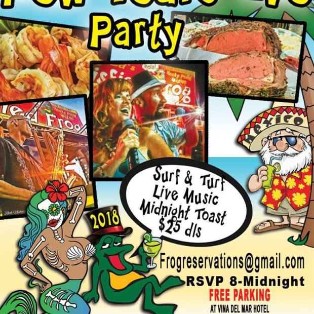 satis-frog-NYE Where to go for Christmas & New Year's in Rocky Point 2017
