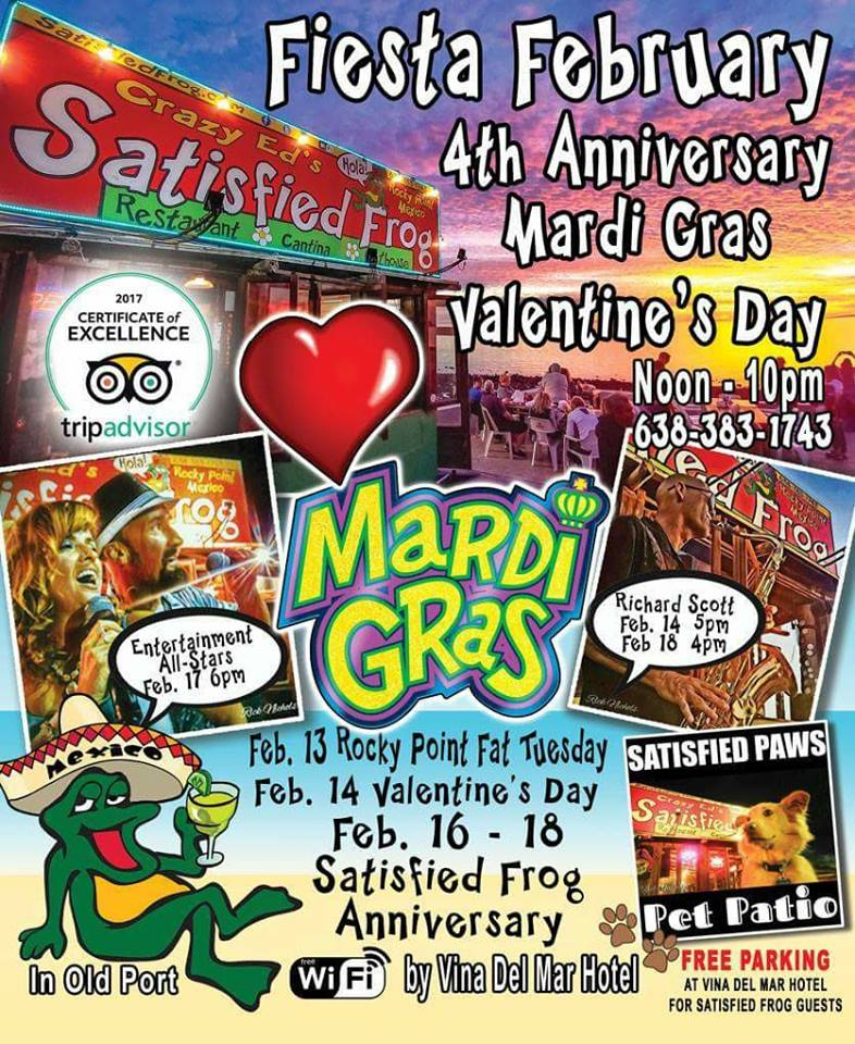 satisfied-frog-14 Mardi Gras & Valentine's  Day