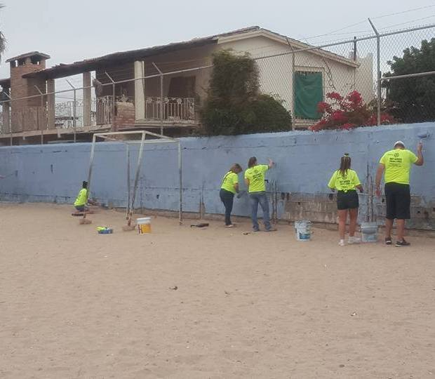 Rotary-Service-Project-Weekend-AZ5495-march2018-3 Puerto Peñasco Rotary Club delivers backpacks and inaugurates new room at local school
