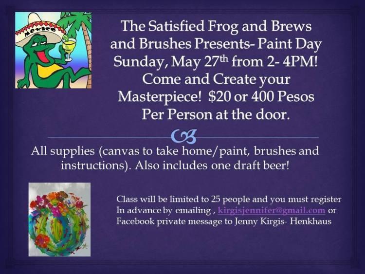 may27-brews-satisfied Brews & Brushes at Satisfied Frog 5.27