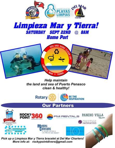 "limpieza ""Limpieza Mar y Tierra"" Clean-up set for September 22nd"