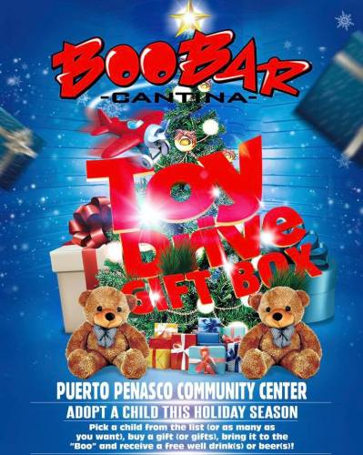 boobar-toy-drive It's beginning to look a lot like...Rocky Point Weekend Rundown!