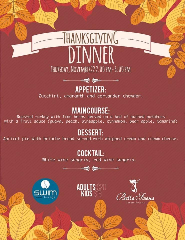 thanksgiving-bella-sirena Thanksgiving options in Puerto Peñasco