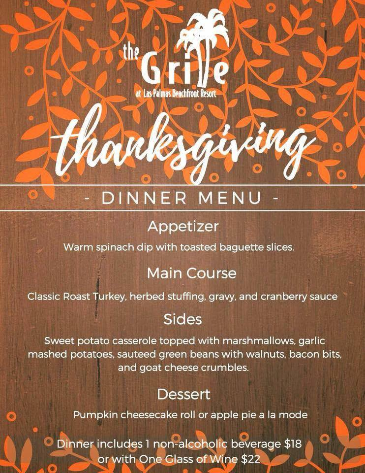 thanksgiving-the-grille Thanksgiving options in Puerto Peñasco