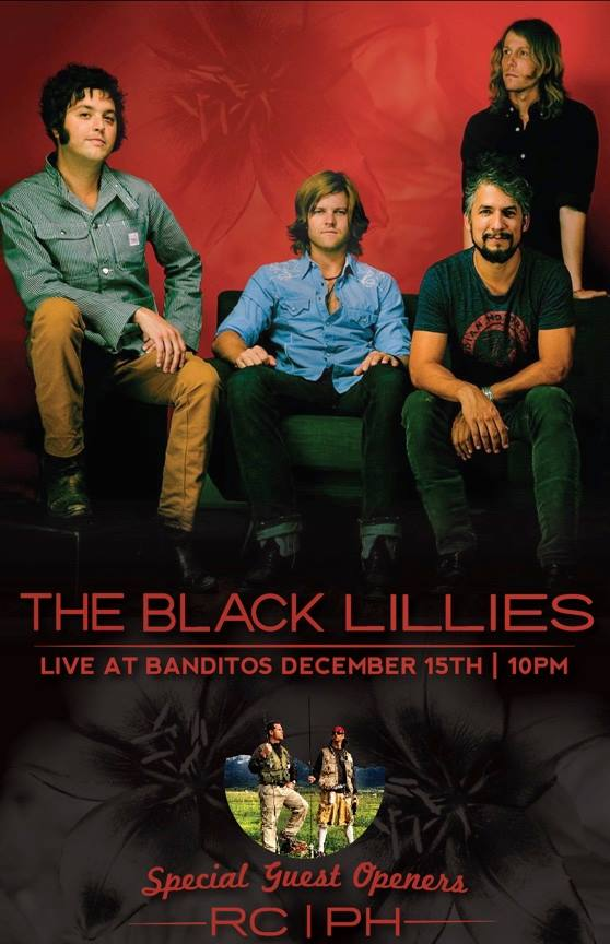 The Black Lillies w/special openers Roger Clyne & PH Naffah @ Banditos