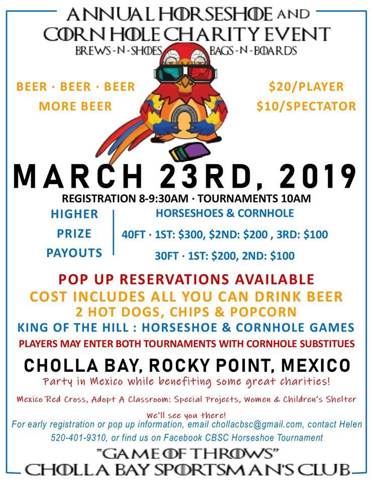 cbsc-horseshoe-march-2019 Welcome to 2019! Rocky Point Weekend Rundown