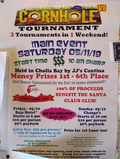 JJs-Cornhole-Tourney Semana Santa! Rocky Point Weekend Rundown!