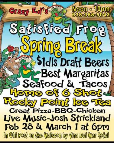 Josh-Strickland-Satisfied-Frog-960x1200 What's not to love?  Rocky Point Weekend Rundown!