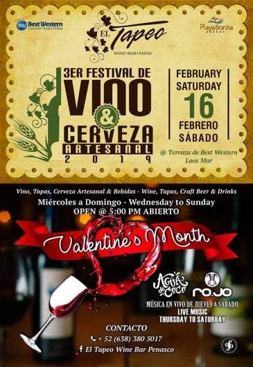 tapeo-valentines-month AMOR! Valentine's Day 2019 in Puerto Peñasco
