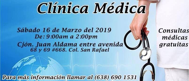 Clinicas-Medicas-16-Marzo-19 Consultas Medicas Gratuitas