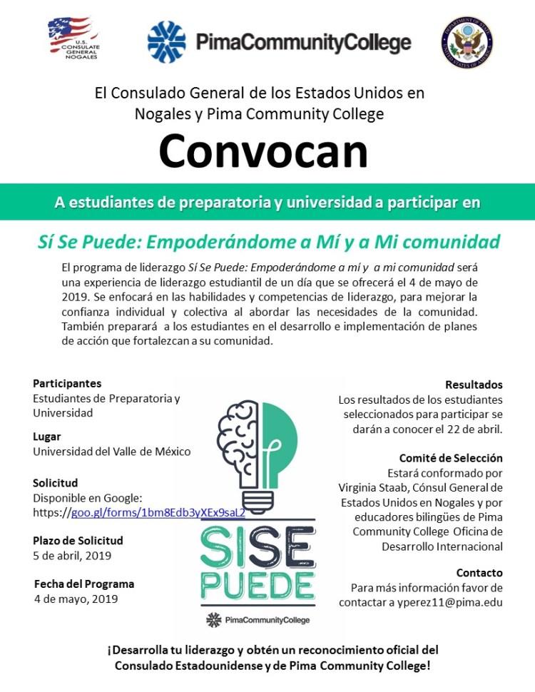 Convocatoria1 US Consulado en Nogales ofrece Programa de Liderazgo