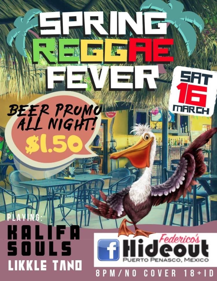 Federico's Hideout presents Spring Reggae Fever | Rocky
