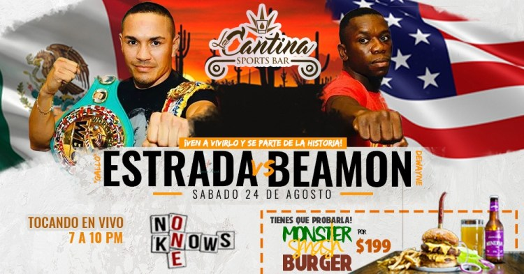Estrada-vs-Beamon-at-La-Cantina-19 Gallito Estrada vs Dewayne Beamon at La Cantina Sports Bar