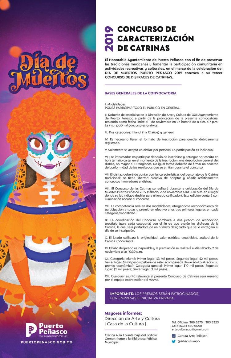 Concurso-de-Catrinas-776x1200 2019 Catrina Contest invite