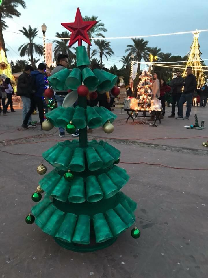2 2019 Contest for Christmas Trees made from recycled materials