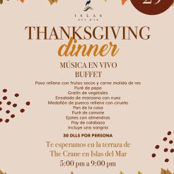 Islas-del-Mar-Thanksgiving-Dinner-19 Turkey plans 2019?
