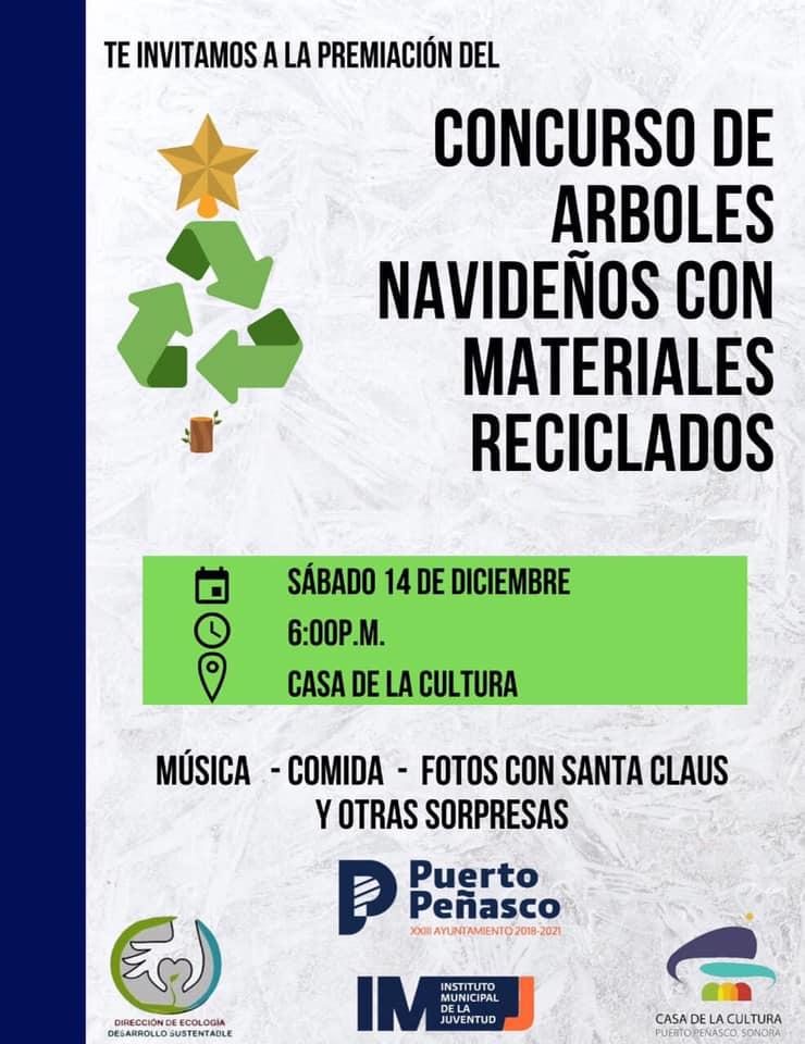 arbol-concurso-reciclado-2019b Concurso de árboles navideños con materiales reciclados 2019