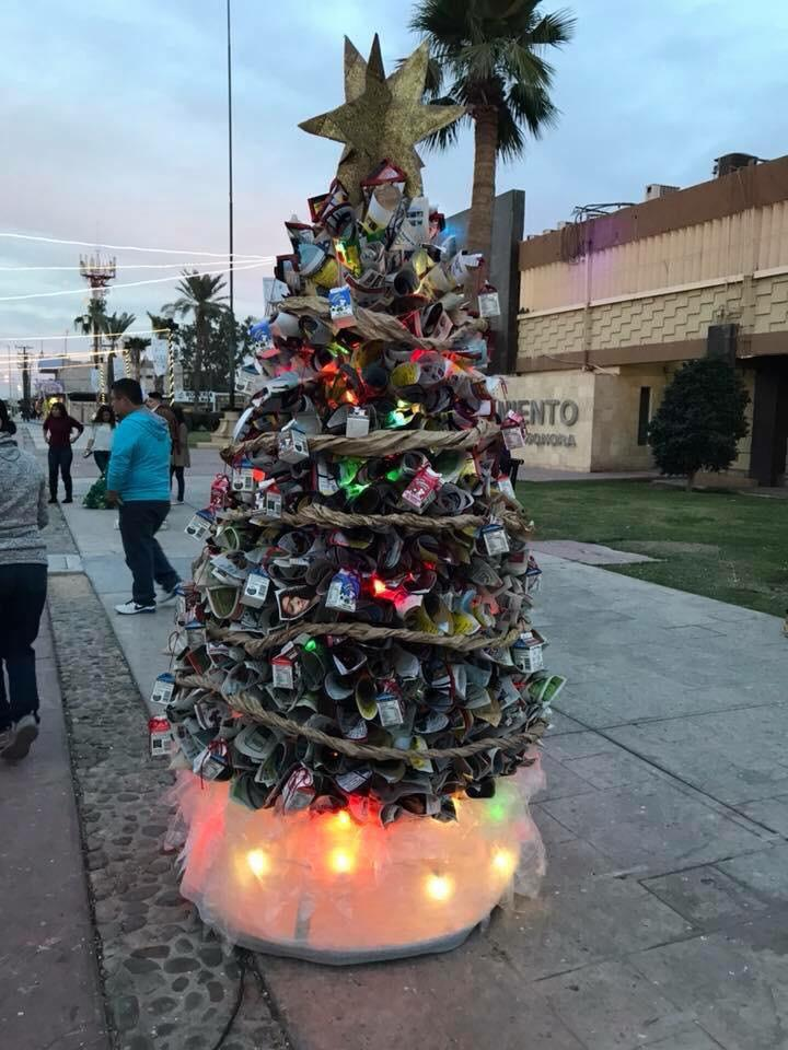 index-1 2019 Contest for Christmas Trees made from recycled materials