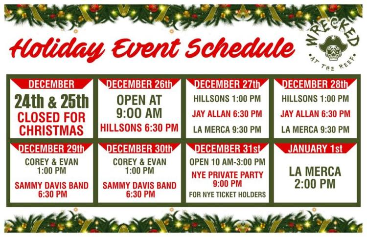 Wrecked-Christmas-Schedule-19 Winter is coming! Rocky Point Weekend Rundown