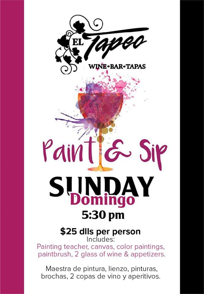 El-Tapeo-Paint-Sip-20 Whatcha got? AMOR! Rocky Point Weekend Rundown!