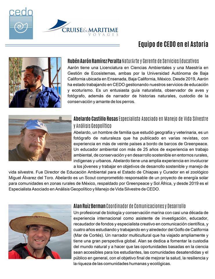 cedo-astoria3 CEDO staff promote ecotourism aboard the Astoria