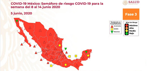 semaforo-mexico-5-junio-Sec-Salud Puerto Peñasco hopes to welcome back visitors June 16th