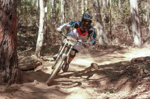 Sarah Booth, new series leader in elite women's category, on track at Ourimbah. Photo: Jaime Black