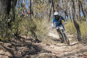 Andrew Crimmins racing to victory at Lithgow's Pony Express. Photo: Jaime Black