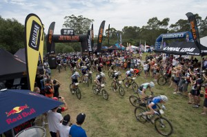 Race start at Mount Annan.