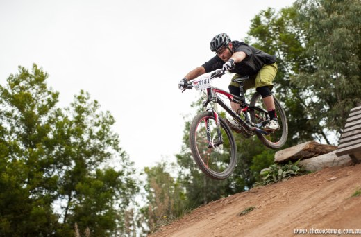 """Playground"" jumps towards the wall-ride. Photo: The Roost"