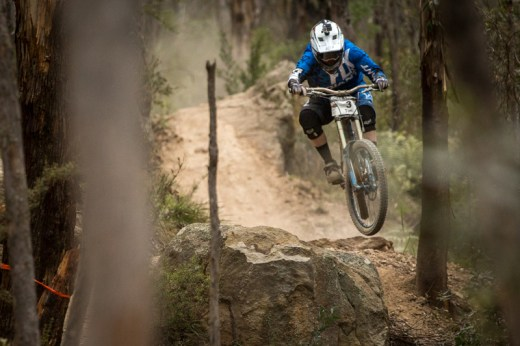 Tim Eaton - current RedAss NSW/ACT Downhill State Series leader expected to dominate on home track. Photo: OuterImage.com.au/Richard McGibbon