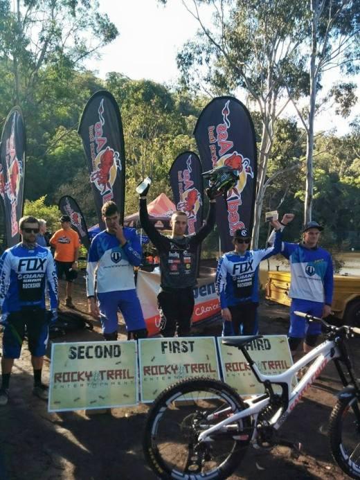 Elite Mens podium. Photo: Rocky Trail