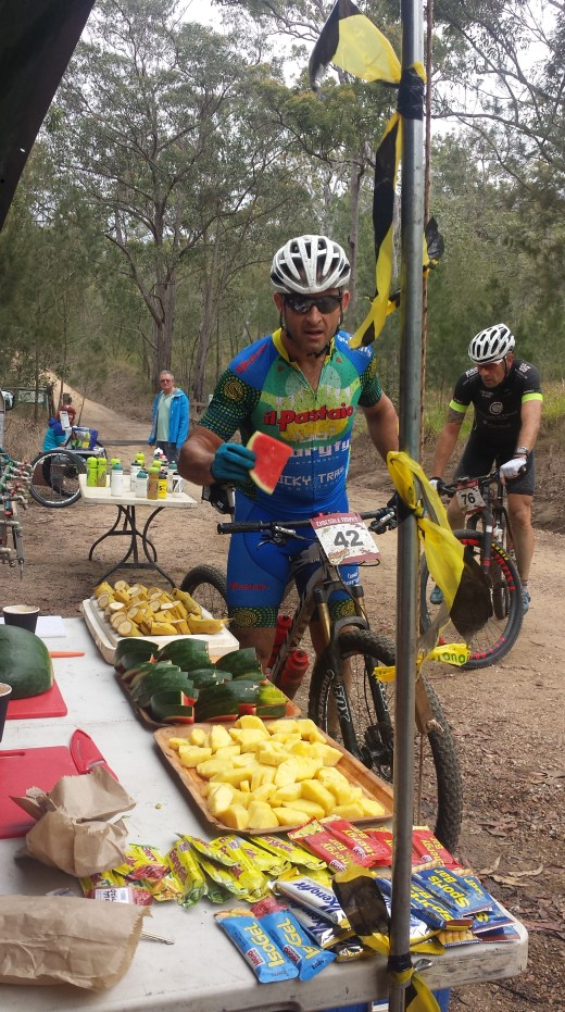 Refuelling at the feedzone.