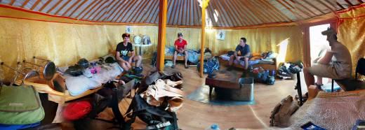 Ger camp life.