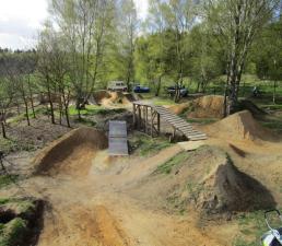 Dirt jump park in Hamburg.