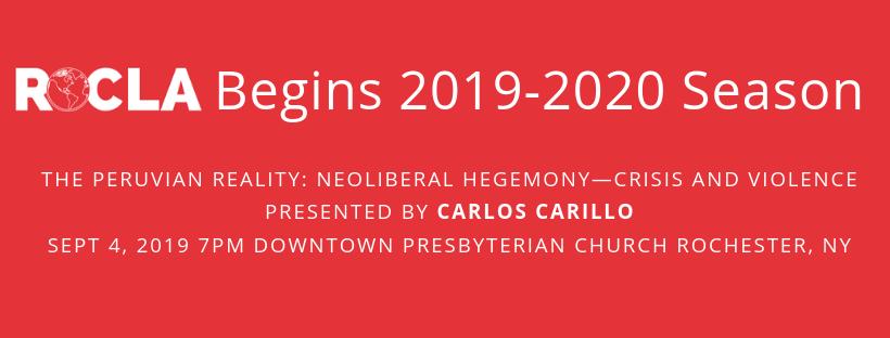 ROcla begins 2019-2020 Season with presentation on Peru