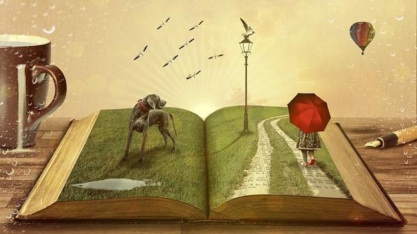 本の中から出てきたストーリー