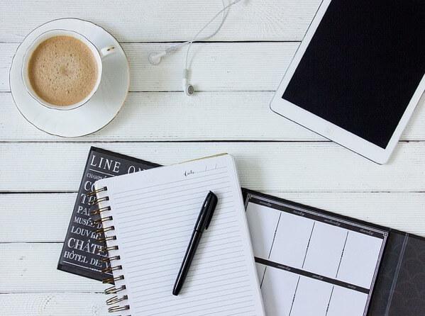 コーヒーとノートとiPad
