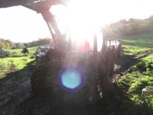 see real farm machines working in devon