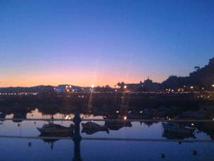 torquay at night, with wine in hand!